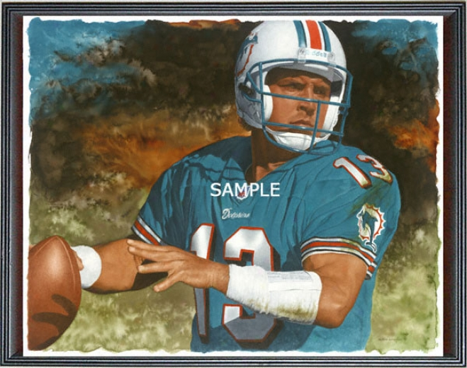 Miami Dolphins - &quotmarino&quot - Large - Framed Giclee