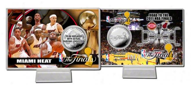 Miami Heat 2011 Nba Finals Silver Coin Card