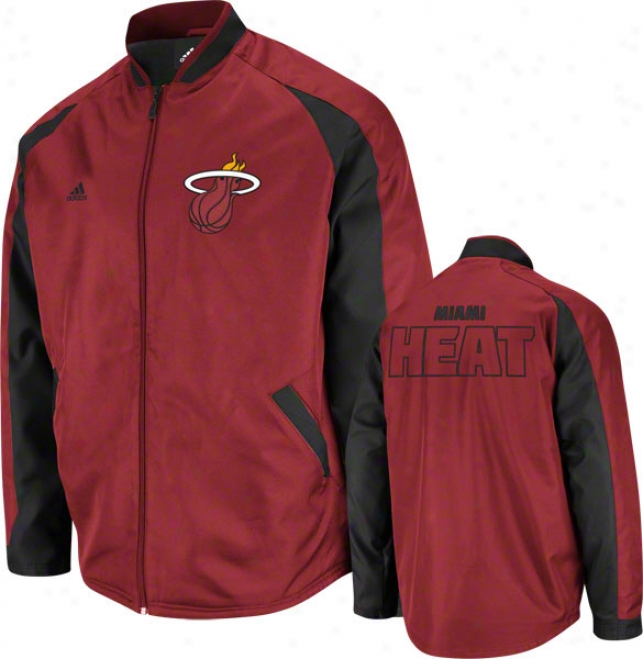 Miami Heat Dark Red Tip Off Midweight Jacket