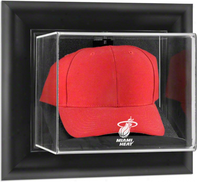 Miami Heat Framed Wall Mounted Logo Cap Display Cover