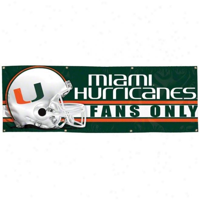 Miami Hurricanes 2x6 Vinyl Banner