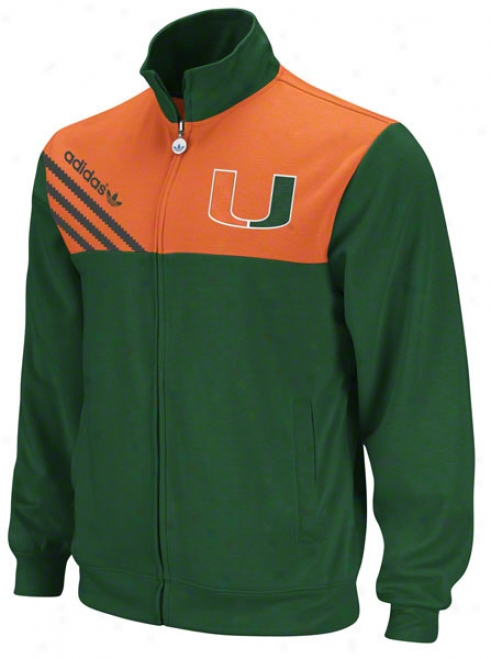 Miami Hurricanes Adidas Green Celebration Track Jacket
