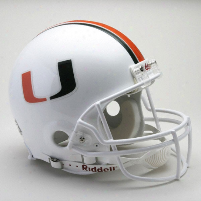 Miami Hurricanes Authentic Pro Line Ridfell Full Size Helmet