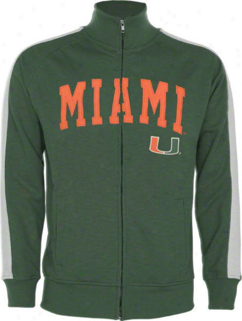 Miaml Hurricanes Green Pinnacle Slub French Terry Follow Jacket