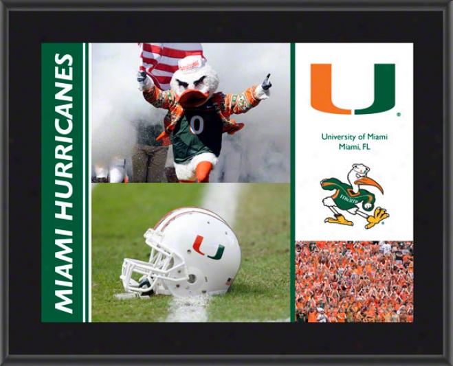 Miami Hurricanes Plaque  Details: Sublimated, 10x13, Ncaa Plaque