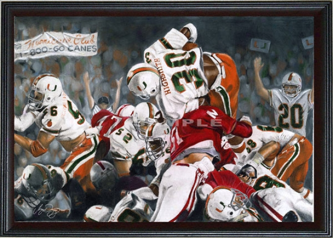 Miami Hurricanes  -&quotmiami On Top&quot - Oversized - Framed Giclee