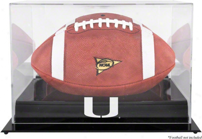 Miami Hurrixanes Team Logo Football Display Case  Details: Murky Base