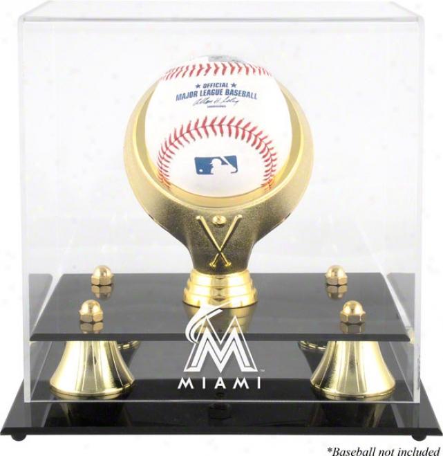 Miami Marlins Golden Classic Single Baseball Display Case