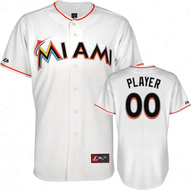 Miami Marlins Jersey: Any Player Home White Replica Jersey