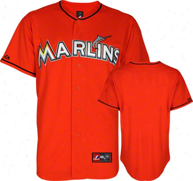 Miami Marlins Orange Alternate Mllb Replica Jersey