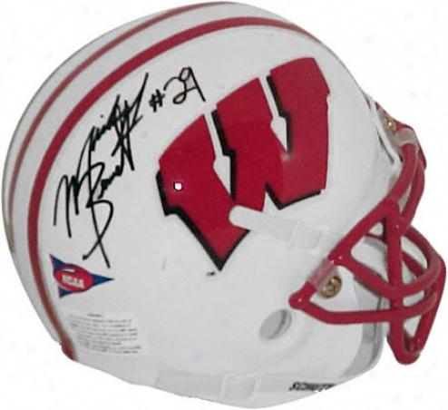 Michael Bennett Wisonsin Badgers Autographed Mini Helmet