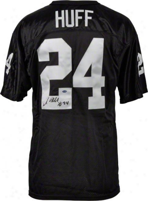 Michael Huff Oakland Raiders Autographed Wilson Jersey