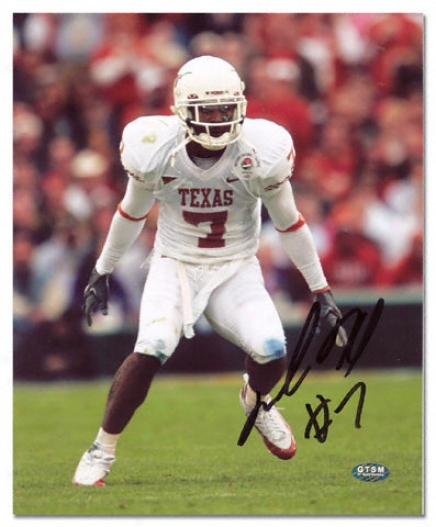 Michael Huff Texas Longhorns Autographed 8x10 Photograph
