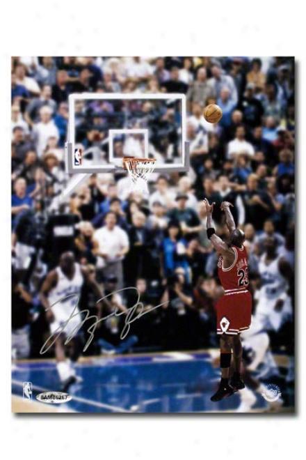 Michael Jordan Autographed Chicago Bulls Last Shot 8x10 Unframed Photograph