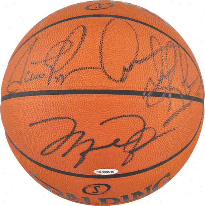 Michael Jordan, Scottie Pippen And Dennis Rodman Auutographed Basketball  Details: Chicago Bulls