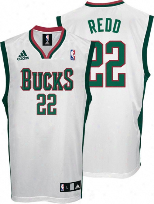 Michael Redd Jersey: Adidas Wite Replica #22 Milwaukee Bucks Jersey