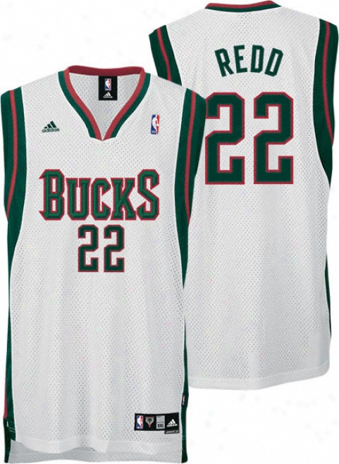Michael Redd Jersey: Adidas White Swingman #22 Milwaukee Bucks Jersey