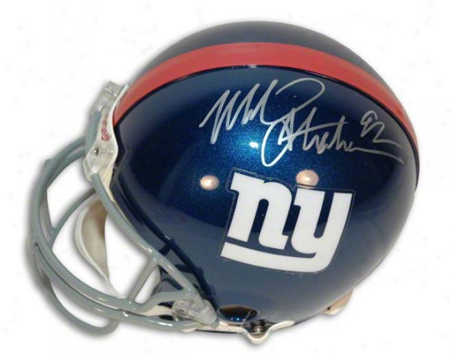 Michael Strahan Autographed Pro-line Helmet  Details: New York Giants, Authentic Riddell Helmet