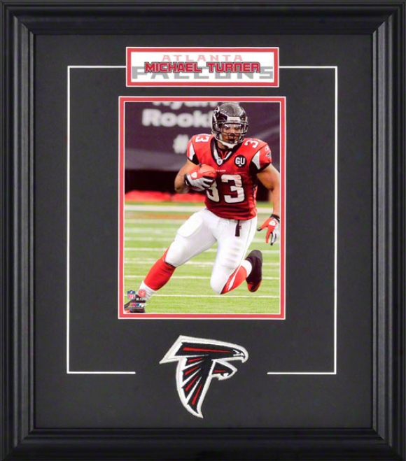 Michael Turner Framed 6x8 Photograph With Team Logo & Lamina