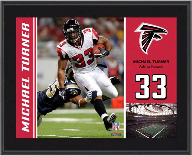 Michael Turner Plaque  Particulars: Atlanta Falcons, Sublimated, 10x13, Nfl Plaque