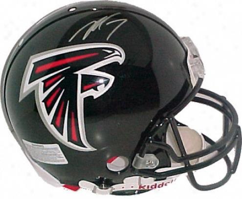 Michael Vickk Atlanta Falcons Autographed Pro Helmet