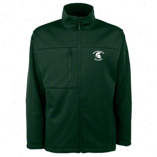 Michigan State Spartans Dark Green Athwart Bondee Soft Shell Jacket