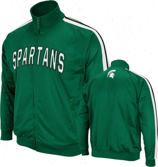 Michigan State Spartans Green Pace Track Jacket