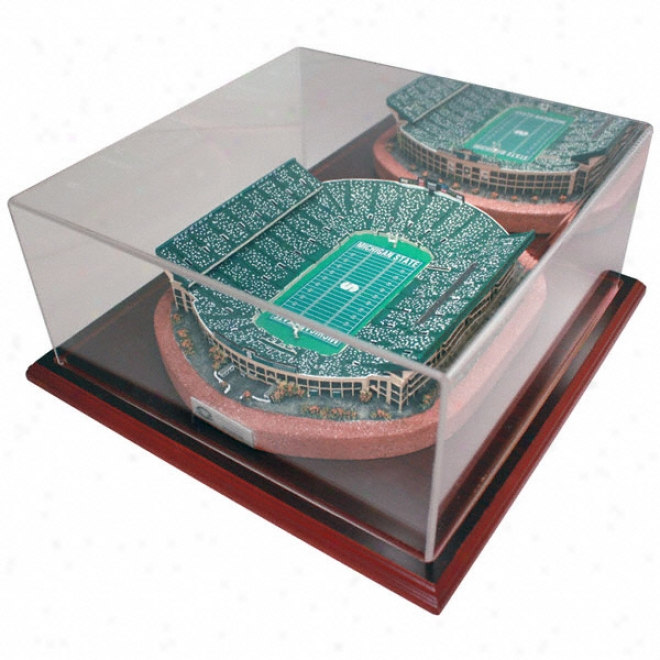 Michigan State Spartans Spartan Stadium Replica With Case - Platinum Series