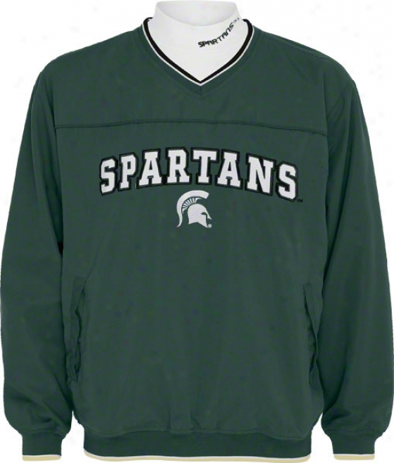 Michigan State Spartans Windshirt/long Sleeve Mockneck Combo Pack