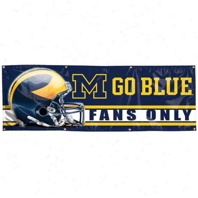 Michigan Wolverines 2x6 Vinyl Banner