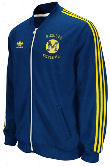 Michigan Wolverines Adidas Navy Homecoming Track Jacket