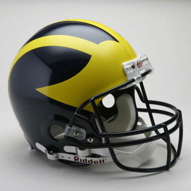 Michigan Wolverines Authentic Pro Line Riddell Full Soze Helmet