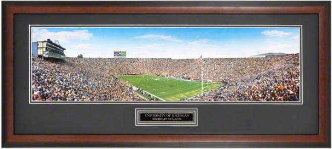 Michigan Wolverines Big House Vs Penn State Framed Panoramic