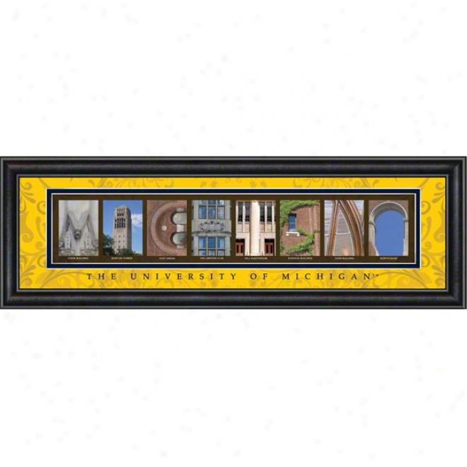 Michigan Wolverines Letter Art