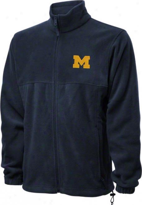 Michigan Wolverines Navy Columbia Flanker Full-zip Jacket