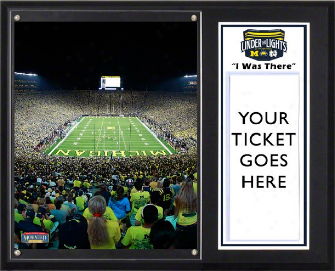 Michigan Wolverines Sublimated 12x15 Plaque  Details: &quoti Was There,&quot First Night Game