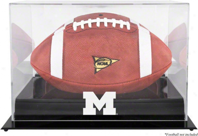 Michigan Wolverines Team Logo Footbalk Parade Case  Details: Black Base