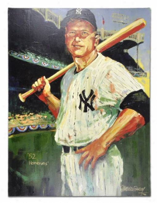 Mickey Mantle New York Yankees Unsigned 30x40 Giclee - In proportion to Malcolm Farley