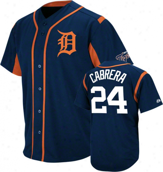 Miguel Cabrera Drtroit Tigers Wind-up Navy Player Jersey