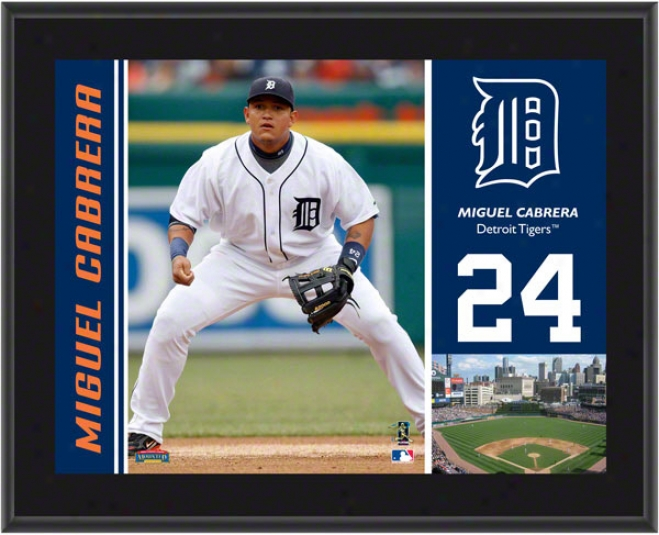 Miguel Cabrera Flat plate of metal  Details: Detroit Tigers, Sublimated, 10x13, Mlb Brooch