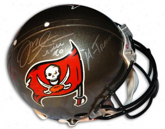Mike Alstott Autographed Pro-line Helmet  Details: Tampa Bay Buccaneers, With ''a-train'' Inscription, Authentic Riddell Helmet