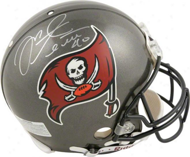 Mike Alstott Autographed Pro-line Helmet  Details: Tampa Bay Buccaneers, Xxxvii, Authentic Riddell Helmet
