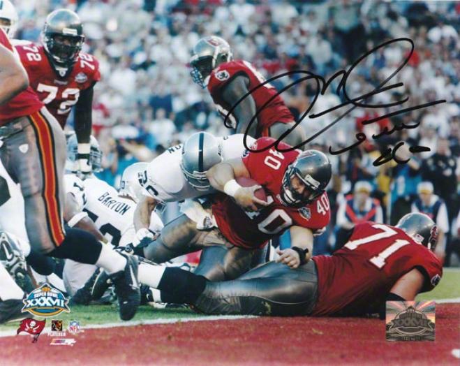 Mike Alstott Tampa Bay Buccaneers - Sb Xxxvi Td - Autographed 8x10 Photograph