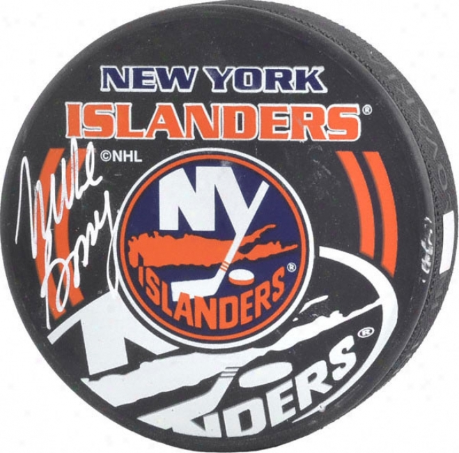 Mike Bossy Unaccustomed York Islanders Autoyraphed -islanders Special Logo- Puck
