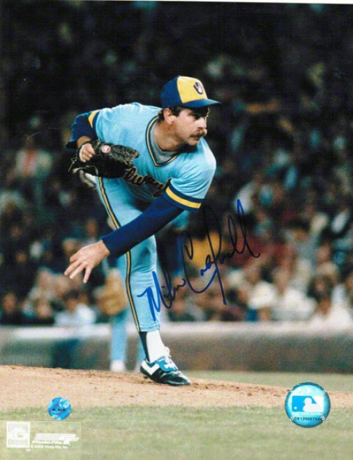 Mike Caldwell Milwaukee Brewers Autographed 8x10 Photo Follow Through