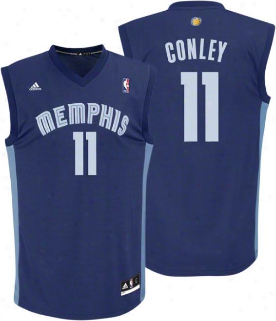 Mike Conley Jr. Jersey: Adidas Revolution 30 Navy Replica #11 Memphis Grizzlies Jersey