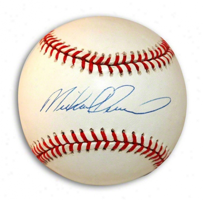 Mike Deveraux Autographed Al Baseball