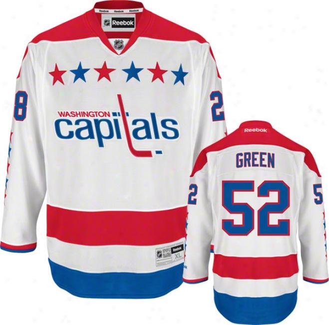 Mike Green Jersey: Reebok Alternate #52 Washington Capitals Premier Jersey