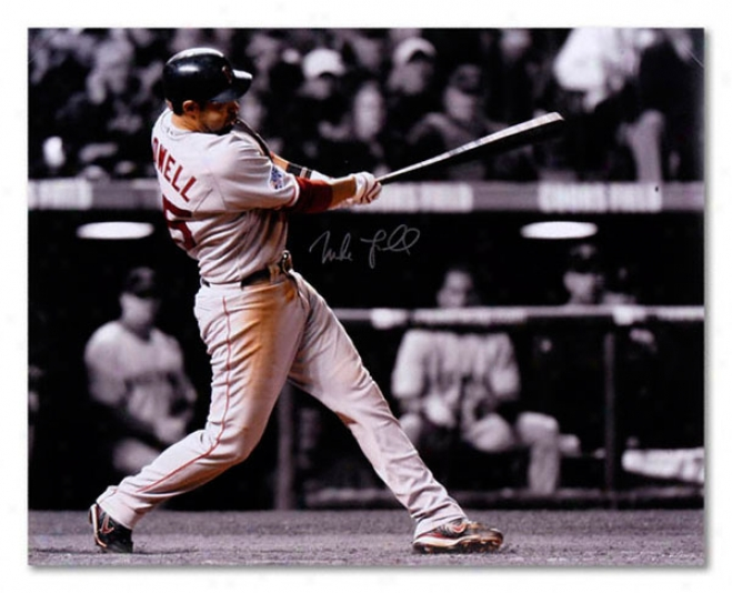 Mike Lowell Boston Red Sox - World Series - Autographed 16x20 Photograph