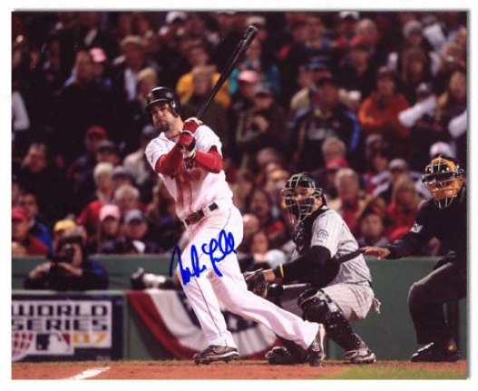 Mike Lowell Boston Red Sox - World Series - Autographed 8x10 Photograph